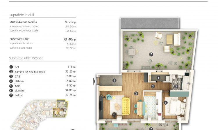 Apartament cu 2 camere - Serban Voda 111 Premium Park