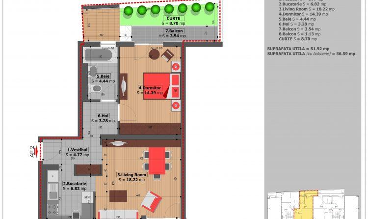 Apartament cu 2 camere Pritvorului Residence