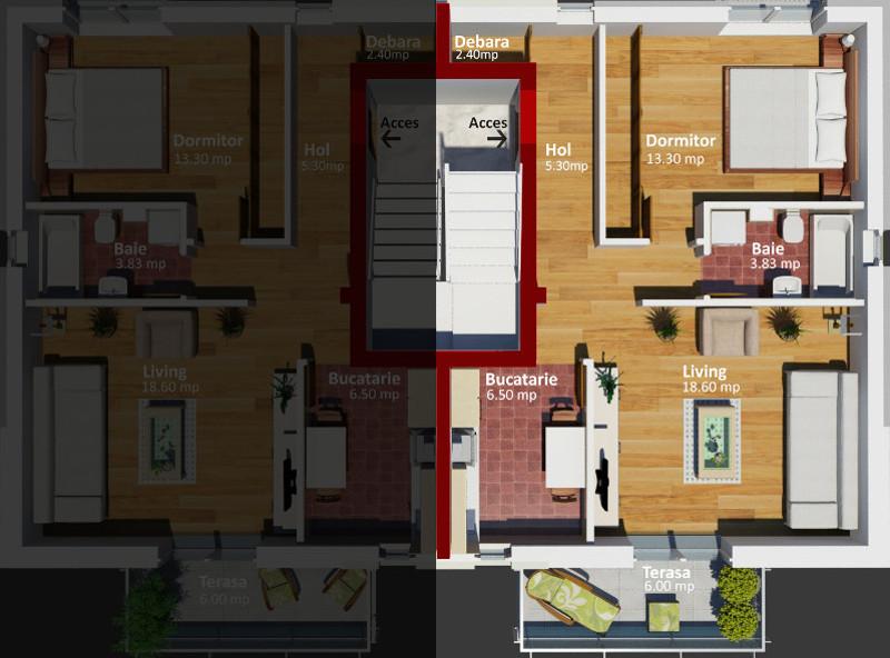 Apartament cu 2 camere Lectorului Residence