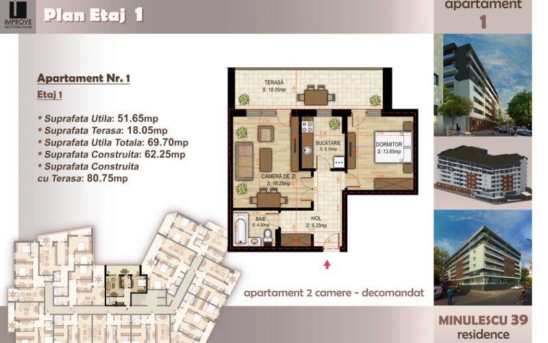 Apartament cu 2 camere Minulescu 39 Residence001