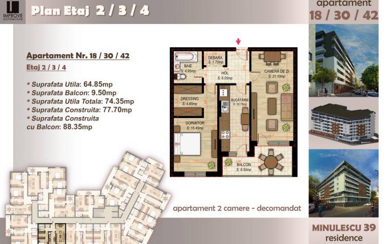Apartament cu 2 camere Minulescu 39 Residence011