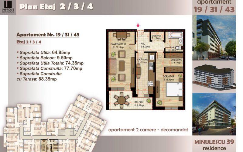 Apartament cu 2 camere Minulescu 39 Residence012