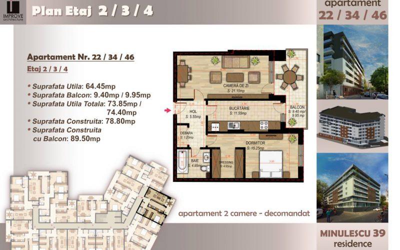 Apartament cu 2 camere Minulescu 39 Residence016