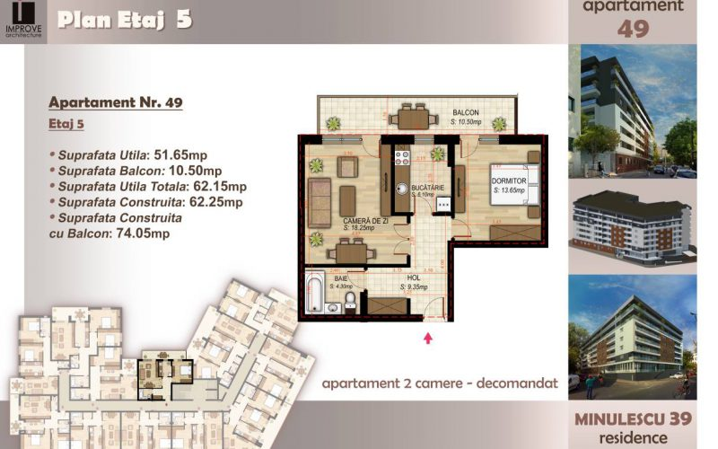 Apartament cu 2 camere Minulescu 39 Residence021
