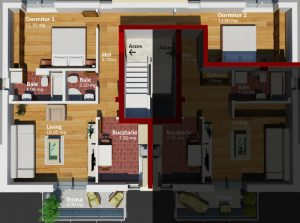 Apartament cu 3 camere Lectorului Residence