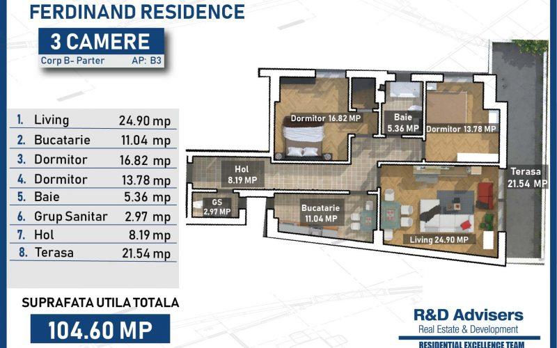 Apartament 3 camere Ferdinand Residence