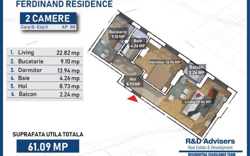 Apartament 2 camere Ferdinand Residence
