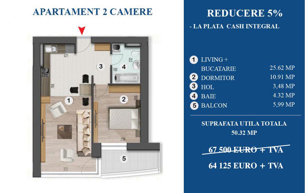 Oferta Speciala Apartament 3 camere Armonia Residence