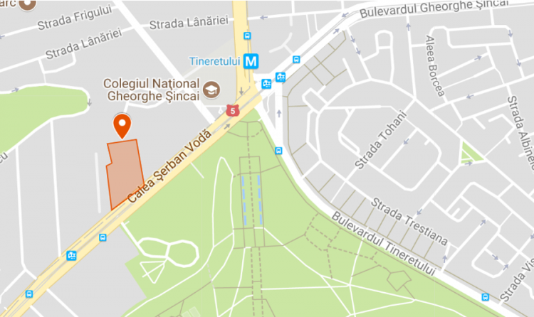harta Teren 13 726mp - Tineretului - Adesgo