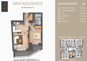 Apartament cu 2 camere Alecu Russo Residence