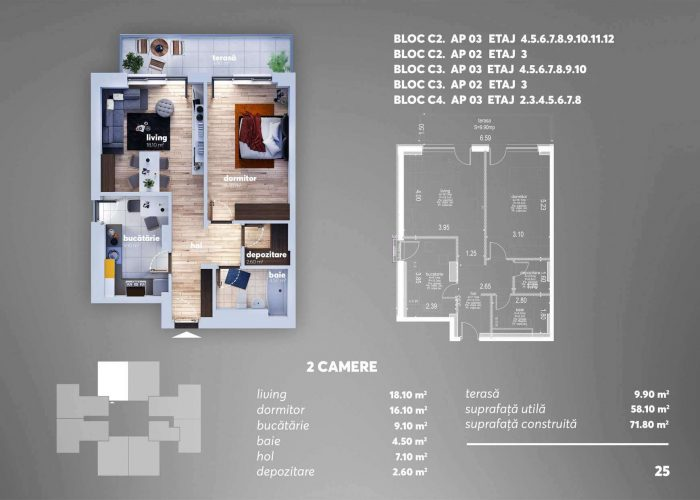 Arena Tower Residence - Plan 2d Apartament 2 Camere 6