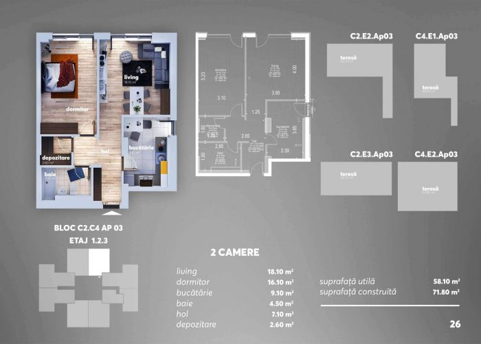Arena Tower Residence - Plan 2d Apartament 2 Camere 7