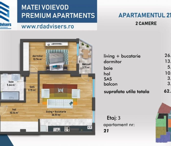 Matei Voievod Premium Apartments - apartament 2 camere_3