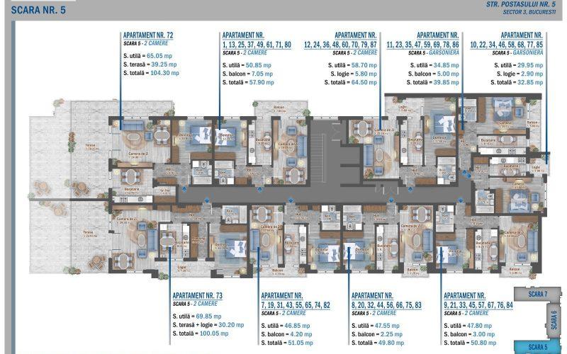 plan etaj 7 scara 5