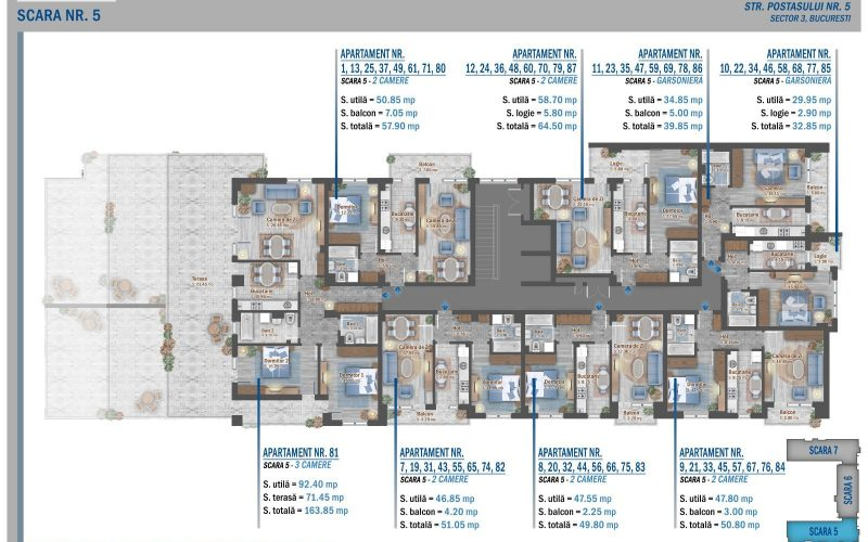 plan etaj 8 scara 5