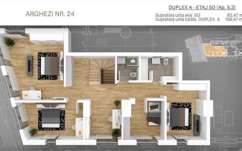 DUPLEX A - etaj 5D (Ap. 5.3)